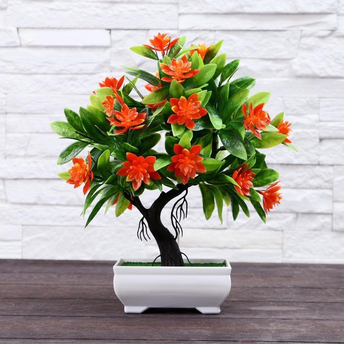 """Бонсай """"Деревце волнистые цветы"""" 10*24 см микс"""