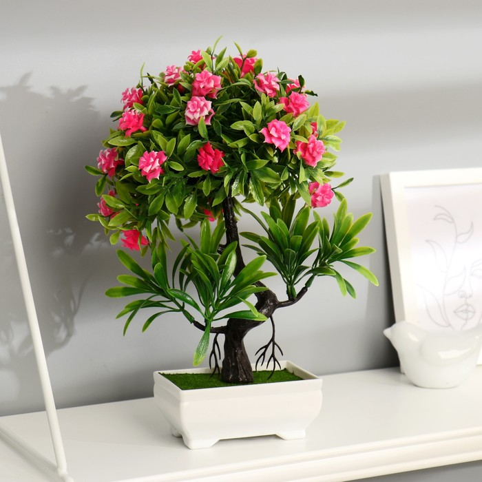 """Бонсай """"Деревце с мелкими цветами"""" 10*25 см микс"""