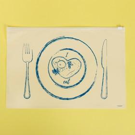 Пакет для хранения еды I love to eat, 36 × 24 см Ош