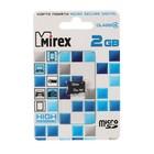 Карта памяти Mirex microSD, 2 Гб, класс 4