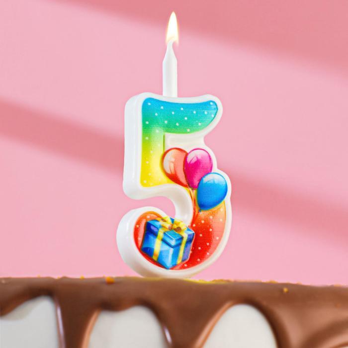 купить Свеча для торта цифра Подарок  5