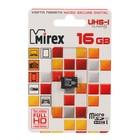 Карта памяти Mirex microSD, 16 Гб, SDHC, UHS-I, класс 10