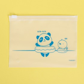 Пакет для хранения вещей горизонтальный «Купаться!», 16 × 9 см Ош