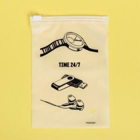 Пакет для хранения вещей вертикальный Time 24/7, 9 × 16 см Ош