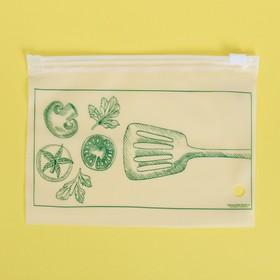 Пакет для хранения еды горизонтальный «Вкус настроения», 16 × 9 см Ош