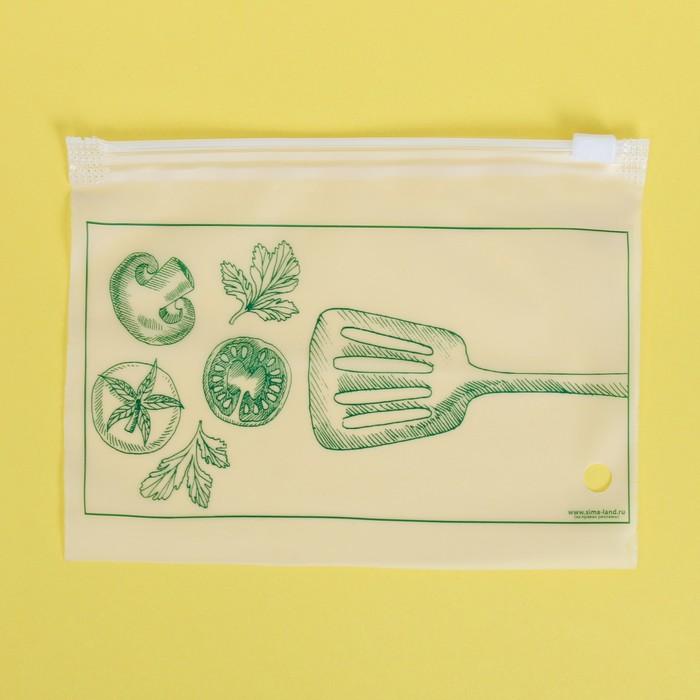 Пакет для хранения еды горизонтальный Вкус настроения, 16 9 см