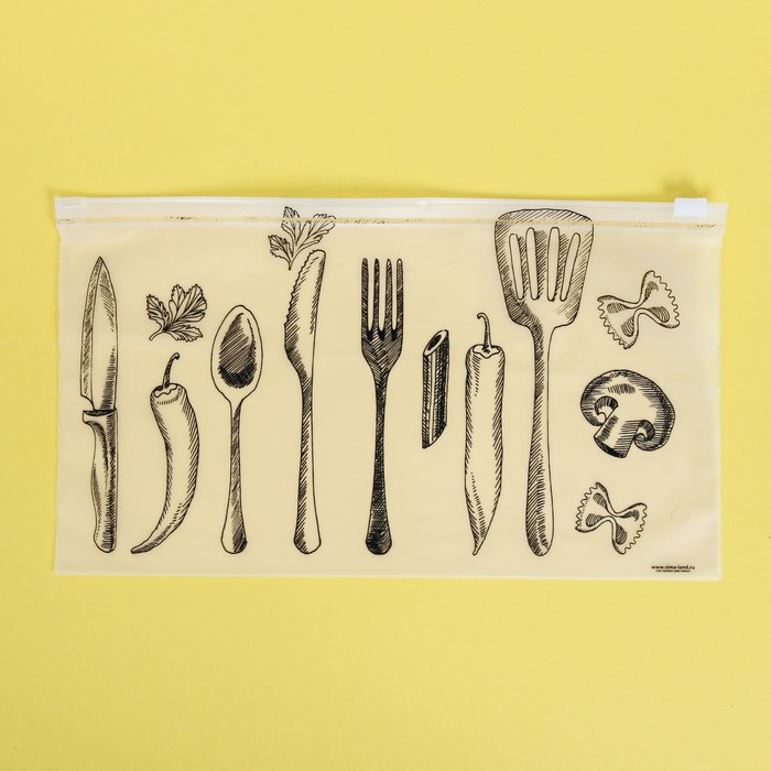 Пакет для хранения еды Шедевры кулинарии, 25 14.5 см