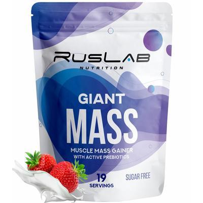 Белково - углеводный комплекс Giant Mass 30% Клубника со сливками, 950 г - Фото 1