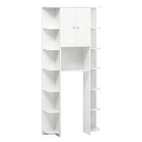 Стеллаж №С03 для ванной комнаты, белый 30 х 88 х 200 см Ош