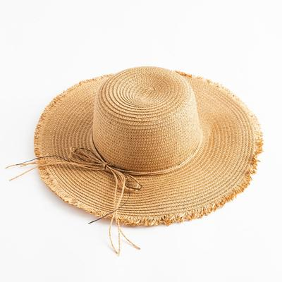 """Шляпа женская MINAKU """"Блеск"""", размер 56, цвет бежевый"""