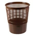 Корзина для бумаг 18 литров, сетчатая, коричневая