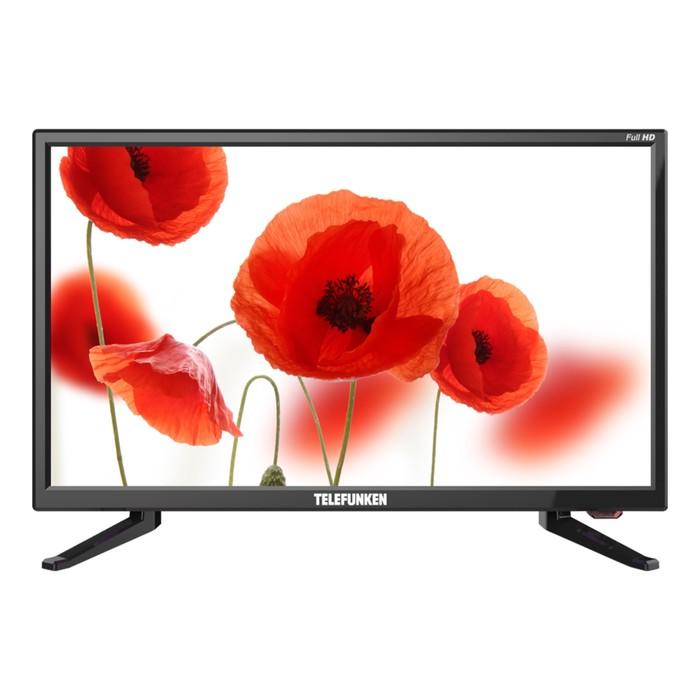 "Телевизор Telefunken TF-LED22S49T2, 22"", 1920x1080, DVB-T2/C, 1xHDMI, 1xUSB, чёрный"