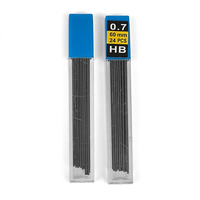 Грифели для механических карандашей, НВ, 0.7 мм, 24 шт.