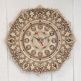 Часы «Узор», 30×30×3 см, береста Ош