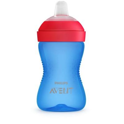 Чашка-поильник с мягким носиком, цвет голубой, 300 мл., от 9 мес. - Фото 1