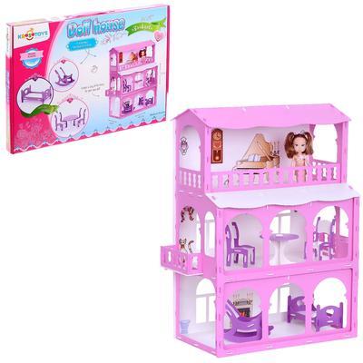 Домик для кукол «Дом Бриджит», цвет бело-розовый - Фото 1