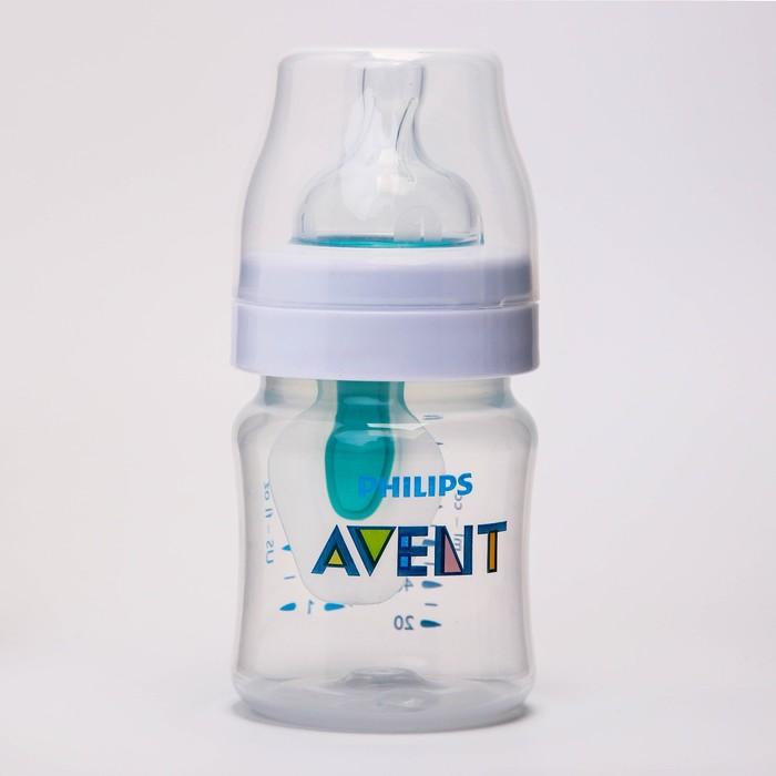 Бутылочка 125 мл., от 0 мес., медленный поток, серия Anti-colic c клапаном AirFree