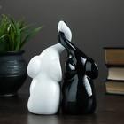 """Фигура """"Пара слонов"""" черный + белый глянец 7х12х16см - Фото 2"""