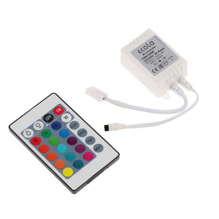 Контроллер Ecola LED strip RGB IR controller, 6А, 12В-72Вт, 24В-144 Вт, для ленты, и/к пульт