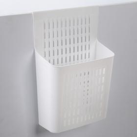 Корзина подвесная, 25×11×35 см, цвет белый