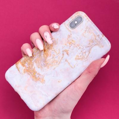 Чехол для телефона iPhone XS MAX «Мрамор», 16 × 8 см - Фото 1