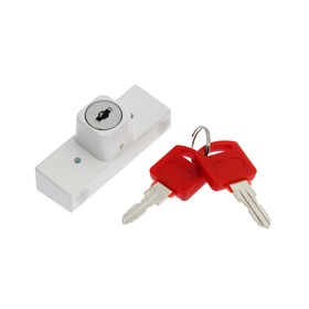 Замок накладной блокирующий для пластиковых окон TUNDRA 001WW, 2 ключа, белый Ош