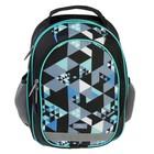Рюкзак школьный с эргономичной спинкой, Calligrata, 37 х 27 х 16, «Калейдоскоп», чёрный