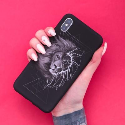 Чехол для телефона iPhone XS MAX «Лев» soft touch, 16 × 8 см - Фото 1