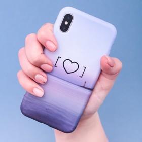 Чехол для телефона iPhone X/XS «Любовь‒это маяк» soft touch, 14.5 × 7 см