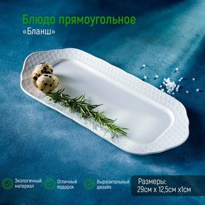 Блюдо прямоугольное «Бланш», 29×12,5 см - Фото 1