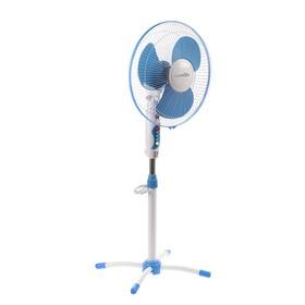 Вентилятор LuazON LOF-02, напольный, 45 Вт, 35 см, 3 режима, бело-синий