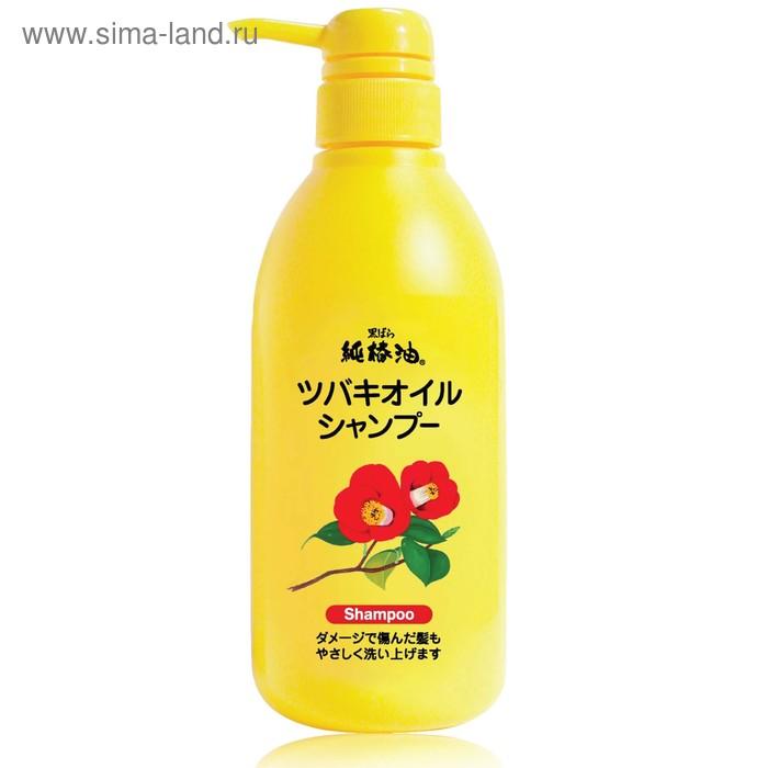 Шампунь для восстановления поврежденных волос Kurobara Tsubaki Oil с маслом камелии, 500 мл