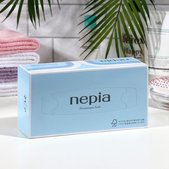 Бумажные салфетки Nepia Premium Soft , 2 слоя, упаковка 180 шт.