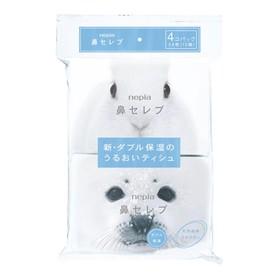 Бумажные двухслойные носовые платки Nepia Funny Noses 12 шт в упаковке, спайка из 4 упаковок   42724