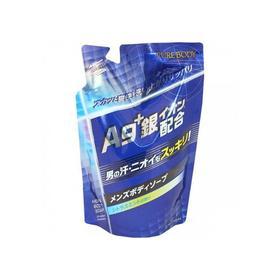 Дезодорирующий мужской гель для душа Mitsuei Pure Body с микрочастицами серебра с ароматом цитруса и мяты, дой-пак, 400 мл