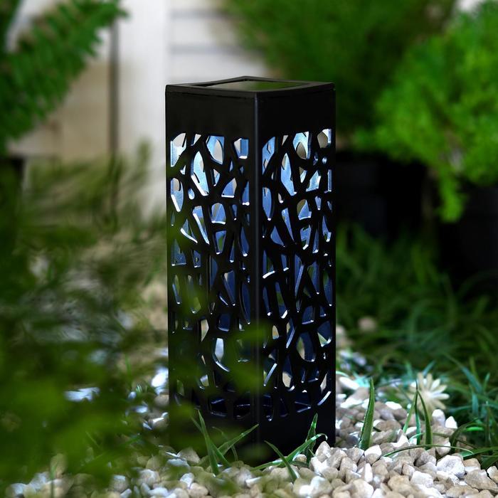 """Фонарь садовый на солнечной батарее """"Ажурная резьба"""", 6 х 29 х 6 см, 1 led, пластик"""