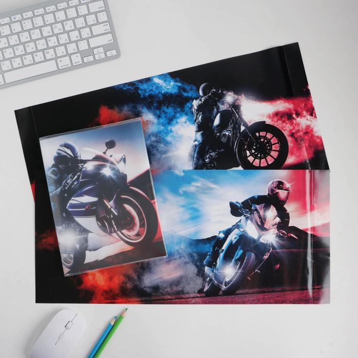Обложка со вставками «Мото», 22.6 × 43 см