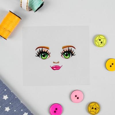 Термонаклейка для декорирования текстильных изделий «Кукла Надя», 6,5×6,3 см - Фото 1