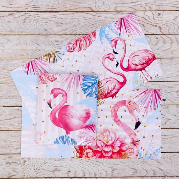 Обложка со вставками «Фламинго», 21 × 35 см