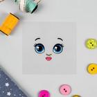 """Термонаклейка для декорирования текстильных изделий """"Кукла Рита"""", 6,5*6,3 см"""