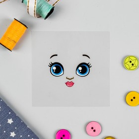 Термонаклейка для декорирования текстильных изделий 'Кукла Рита', 6,5*6,3 см Ош