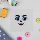 """Термонаклейка для декорирования текстильных изделий """"Кукла Коля """", 6,5*6,3 см"""