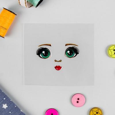 Термонаклейка для декорирования текстильных изделий «Кукла Оля», 6,5х6,3 см - Фото 1