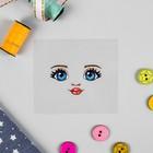 Термонаклейка для декорирования текстильных изделий «Кукла Настя» 6,5х6,3 см - Фото 1