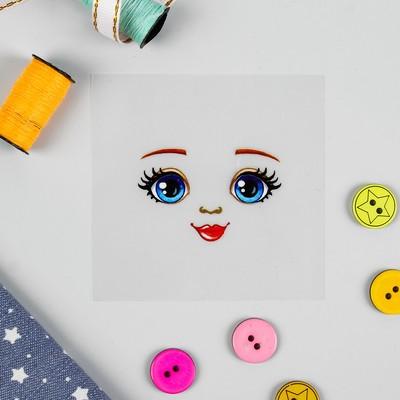 Термонаклейка для декорирования текстильных изделий «Кукла Аня», 6,5×6,3 см - Фото 1