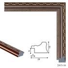 Багет пластиковый 24 мм x 15 мм x 2.9 м (ШxВxД), 2415-16, коричневый с золотым