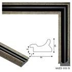Багет пластиковый 44 мм x 25 мм x 2.9 м (ШxВxД), 4425-101-S, чёрный