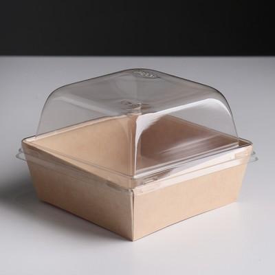 Упаковка, салатник с прозрачной крышкой, 12,8 х 4,5 х см, 0,55 л - Фото 1