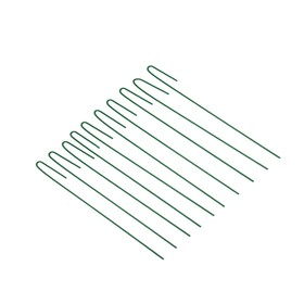 Колышек универсальный, h = 40 см, ножка d = 0.3 см, набор 10 шт., зелёный, Greengo Ош