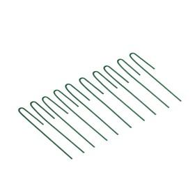 Колышек универсальный, h = 20 см, ножка d = 0.3 см, набор 10 шт., зелёный Ош